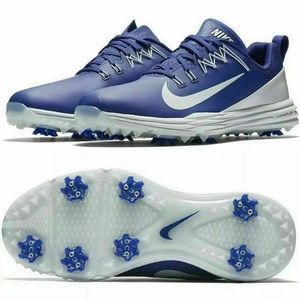 New Mens Nike Lunar Command 2 golf shoes in blue